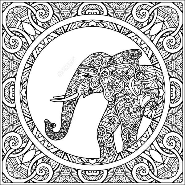 Diseños De Elefantes Hindúes En Mandalas Significado Y Dibujos Para