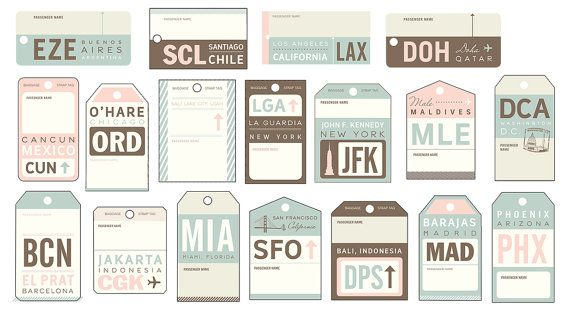 Vintage Luggage Tag Travel Escort Cards | Vintage Luggage Tags