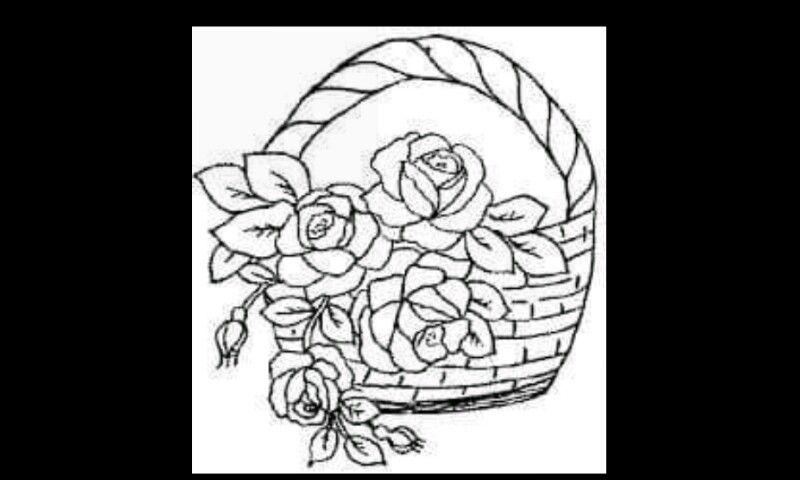 корзина цветов раскраска распечатать