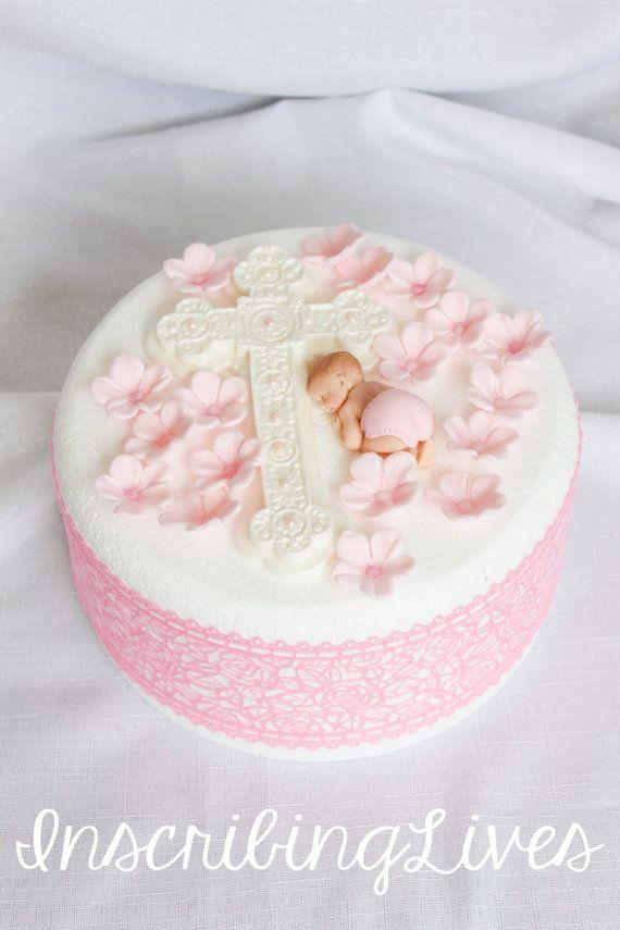 Dekoration Taufe Mädchen: Taufe Kuchen Topper Mädchen 20st Taufe Essbaren