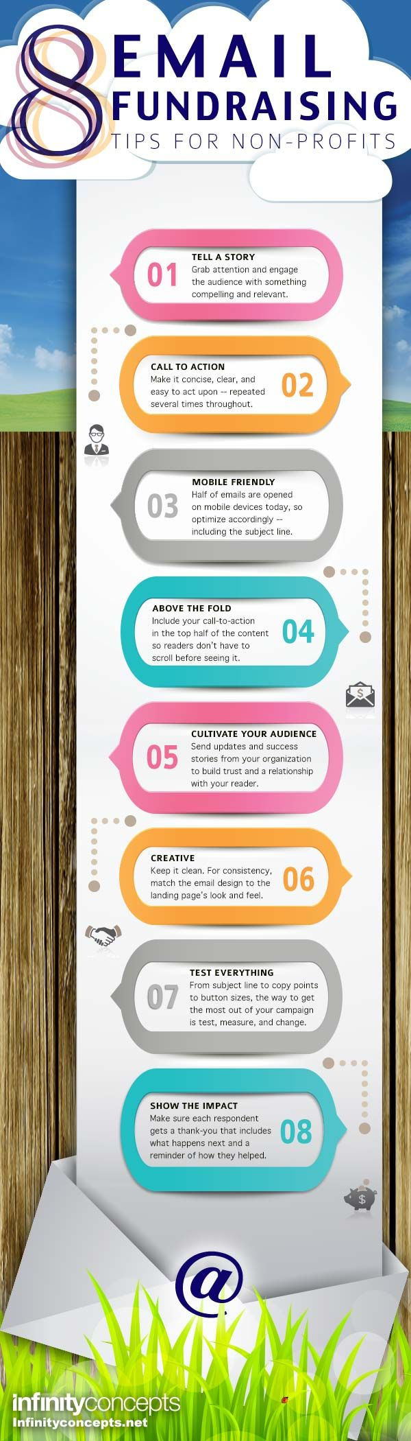 8 Email Fundraising Tips Infinity Concepts Fundraising Tips How To Raise Money Profitable Fundraisers