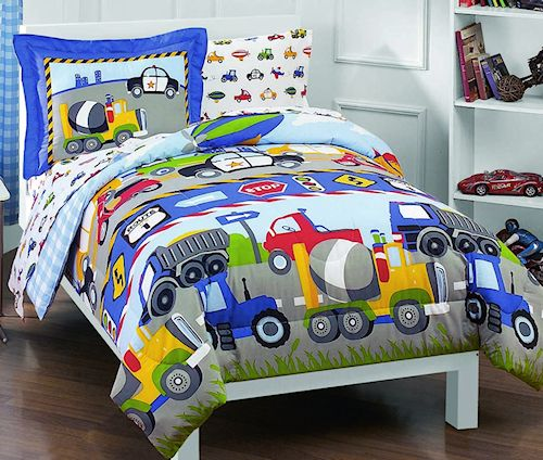cars trucks airplanes police car bedding for little boys 8999 kidsroomstore