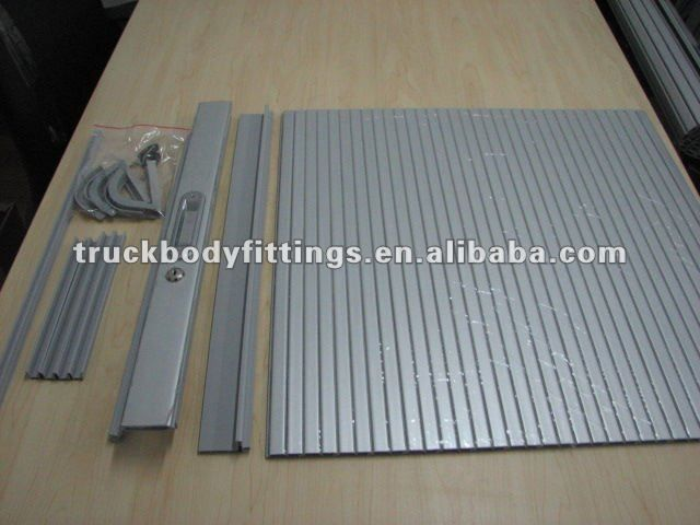 High Quality Aluminum Alloy Curtain Door Cabinet Roll Shutter Door