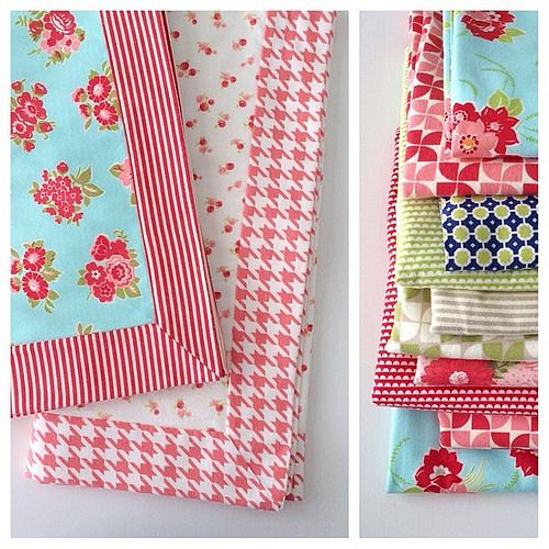 Trying to catch up on baby gifts today by making some receiving blankets with some of my favorite flannels. by croskelley, via Flickr