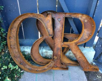 Rustic Metal Letters And Numbers Enchanting 24 Rustic Metal Letters & Numberstulipsntoadstools On Etsy Decorating Design