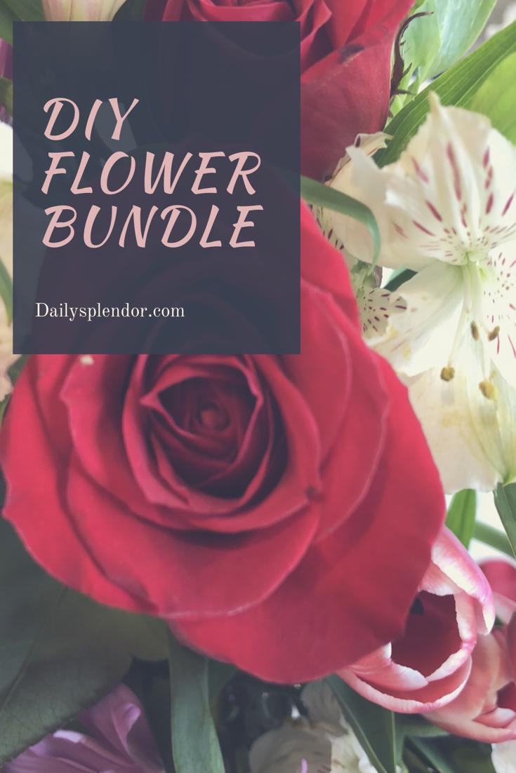 Diy flower bundle