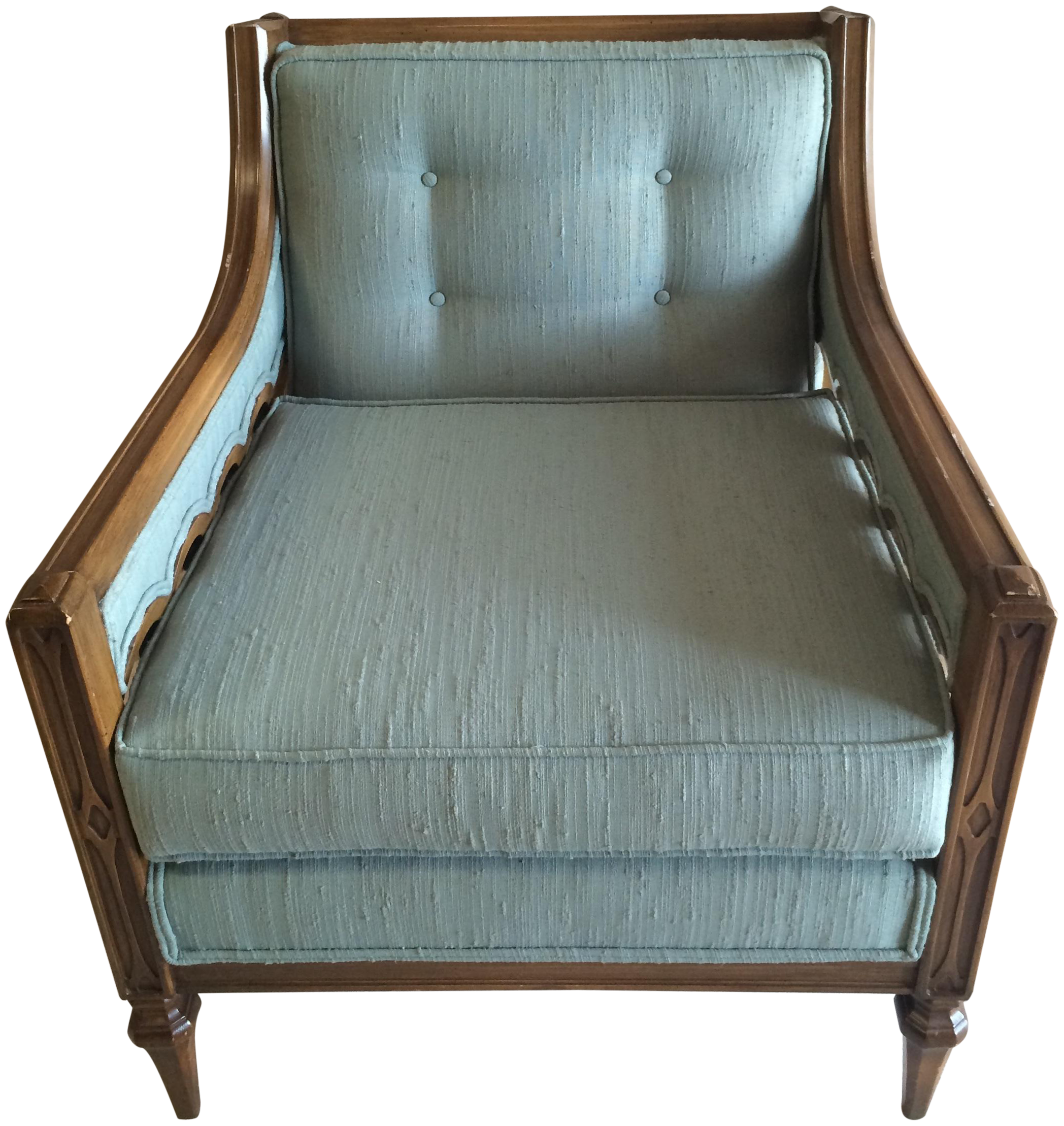 Mid Century Hollywood Regency Style Arm Chair On Chairish