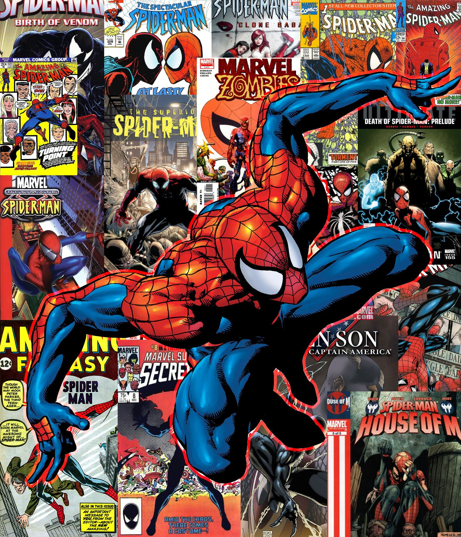 Spider Man Comicbook Cover Collection Wallpaper By Undeadpixelarmy