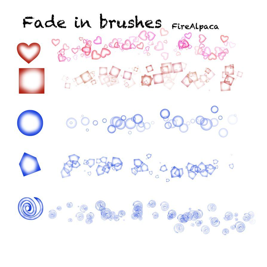 Fade in brushes FireAlpaca by Mo-fox | drawing tutorials and