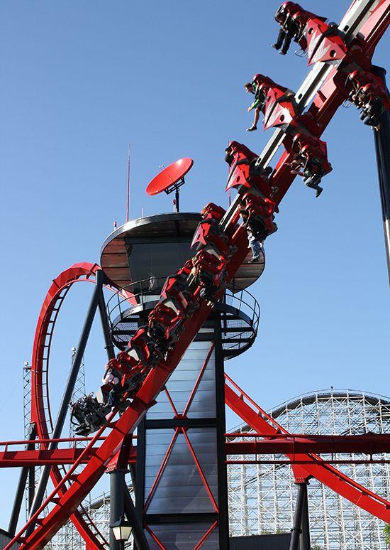 X Flight Six Flags Great America Gurnee Illinois Roller Coaster Roller Coaster Ride Great America