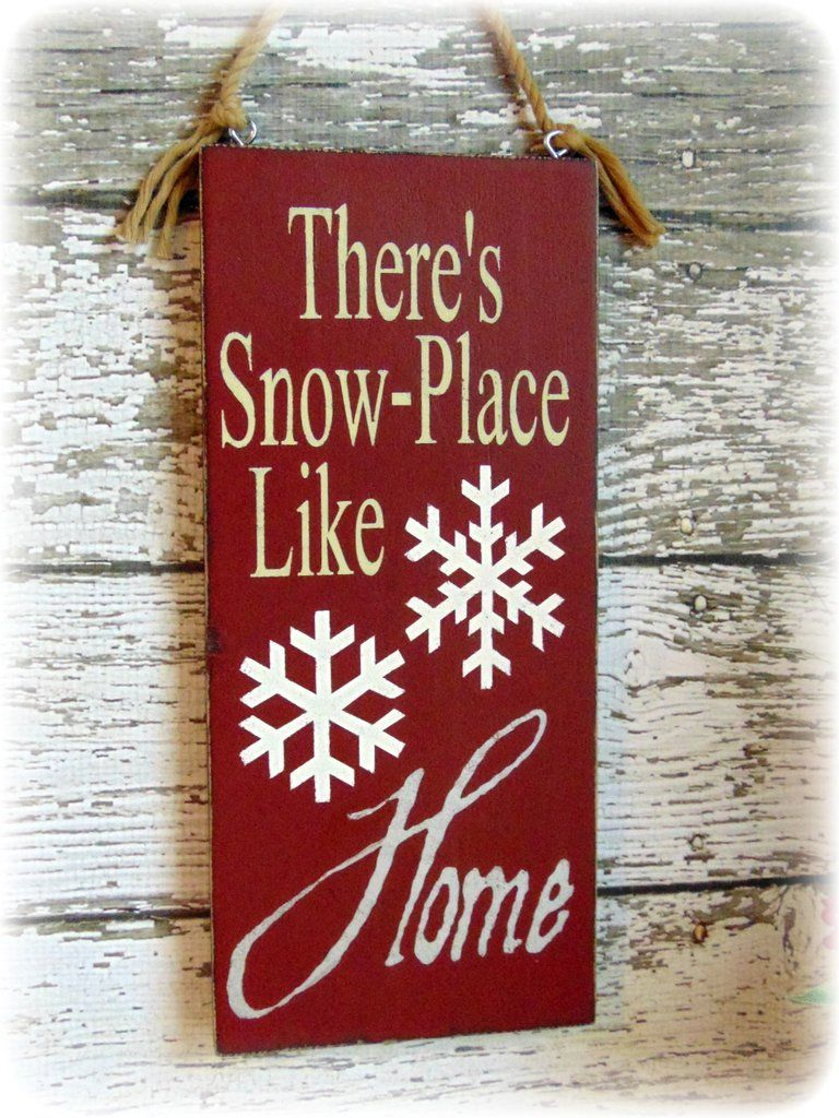 Country Rustic Handmade Wooden Christmas Decor Holiday