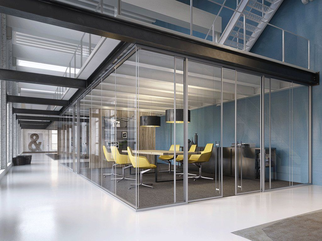Lama office walls sliding doors swing doors pocket doors modernus projects Interior glass partition systems