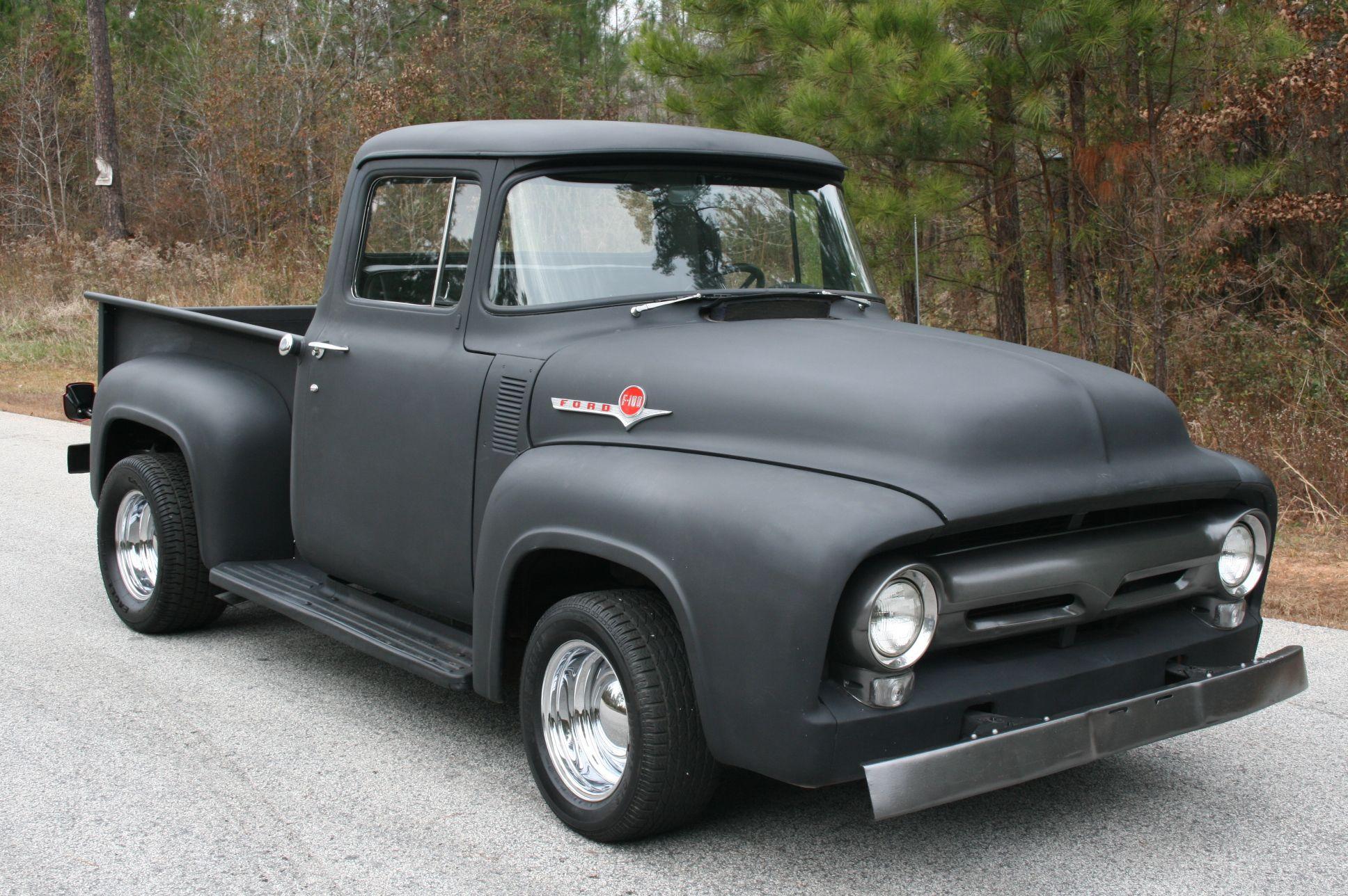 56 f100 like the concept flat black paint cars. Black Bedroom Furniture Sets. Home Design Ideas
