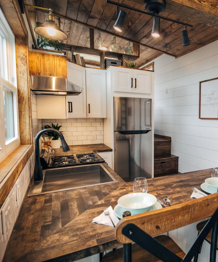 Lupine by Wind River Tiny Homes #tinyhousekitchens