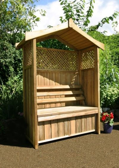 Remarkable Zest Dorset Arbour With Storage Box Garden Arbours Pdpeps Interior Chair Design Pdpepsorg