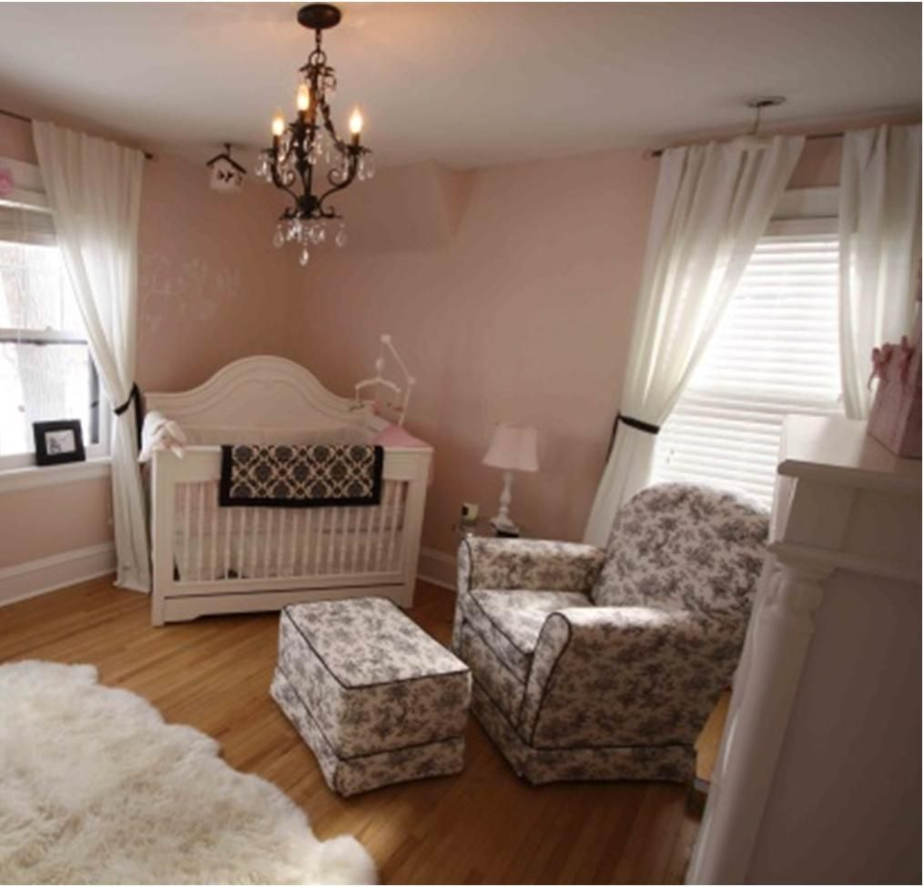 Romantic pink nursery