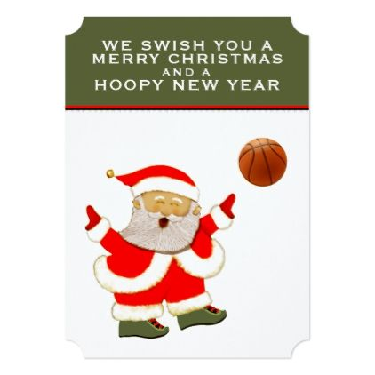 Basketball holiday greeting cards invitations custom unique diy basketball holiday greeting cards invitations custom unique diy personalize occasions m4hsunfo