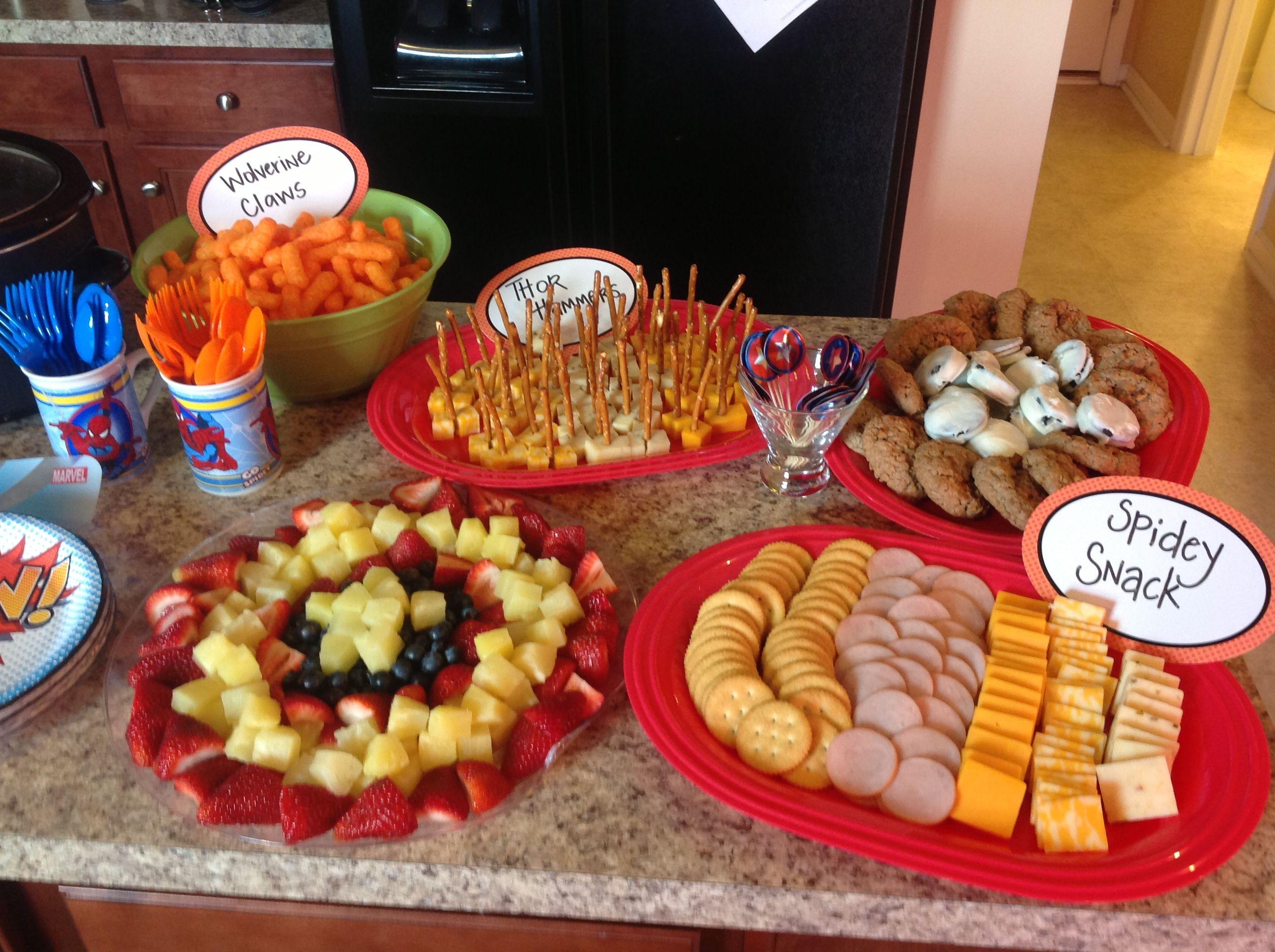 Party Food Superhero Birthday Party Food Spiderman Birthday