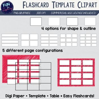 FREE! - I use these all the time! Pick a flashcard template, Layer - flash card template