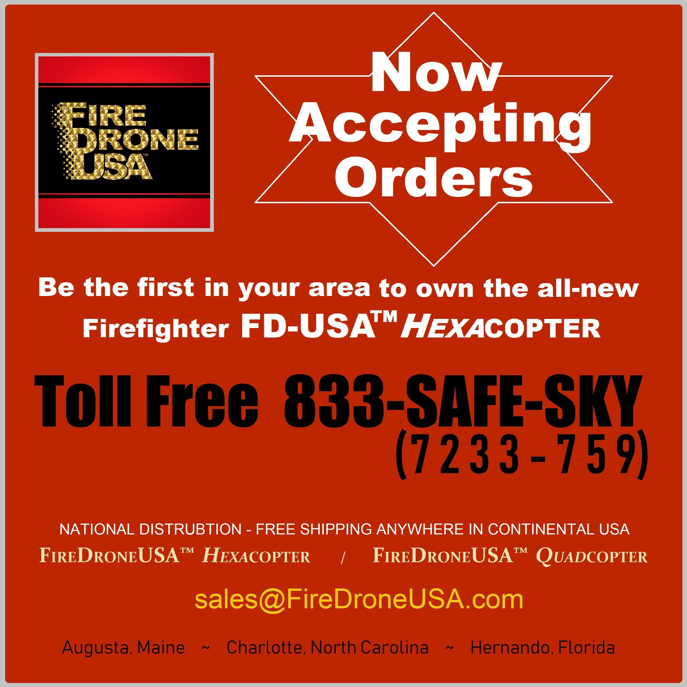 We have a new phone number (833) SAFESKY ️ Our hours of