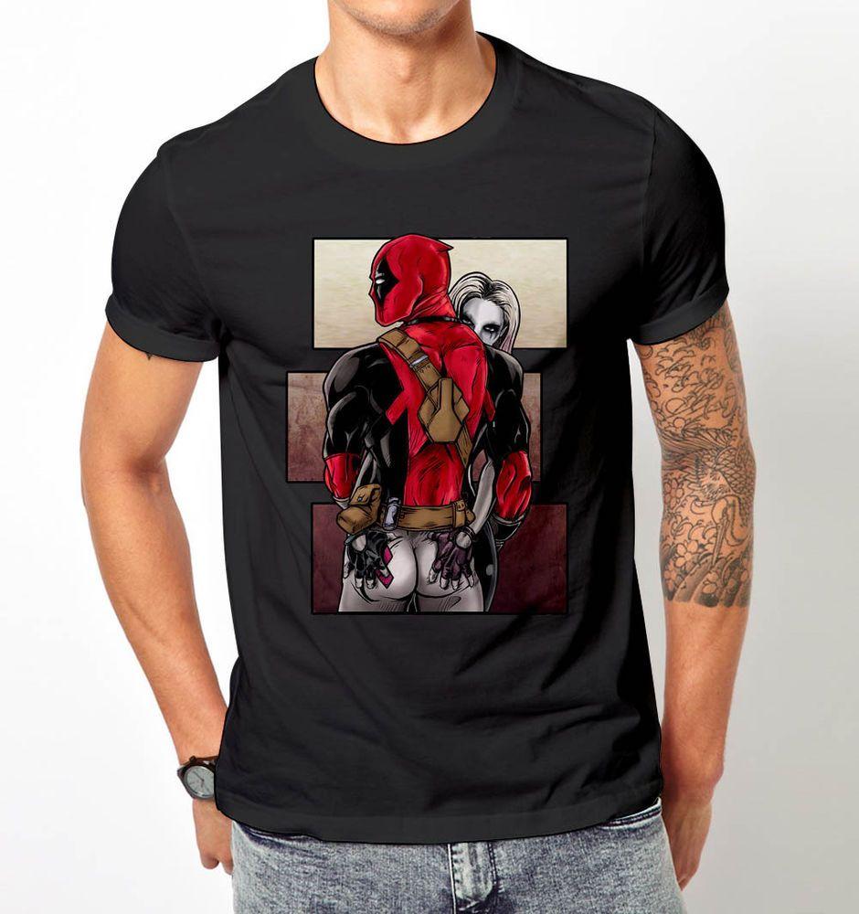 Men Funny Deadpool Comic Wonder Women 3D printed Short Sleeve T-shirt Round Tee