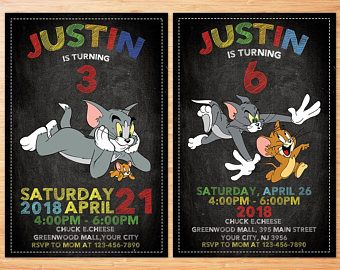 Image Result For Tom And Jerry Free Birthday Printables