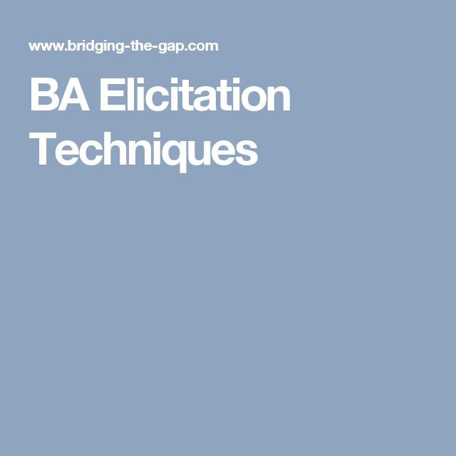 ba elicitation techniques