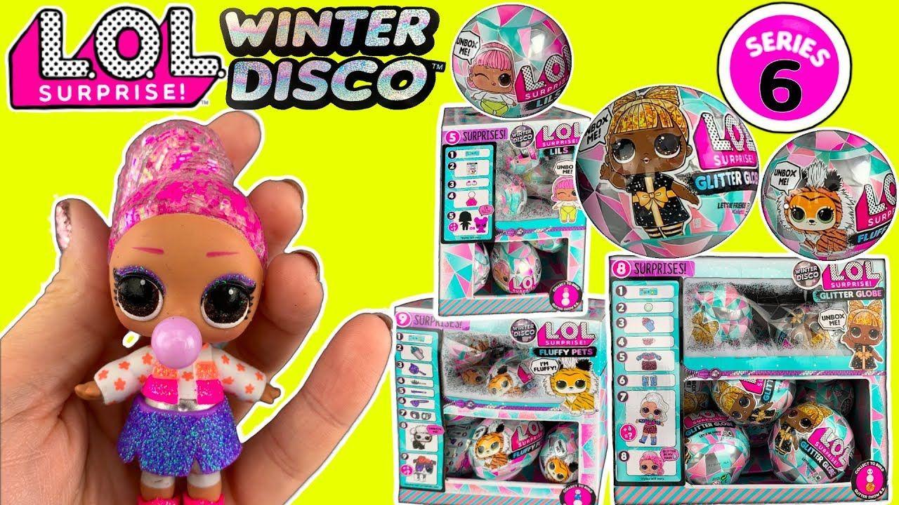 LOL WINTER DISCO! LOL Surprise Series 6 Glitter Globe