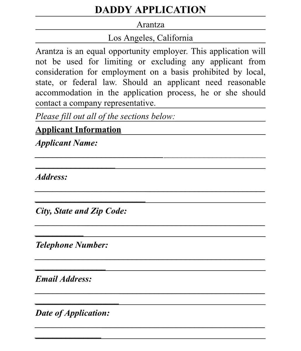 This Application Form Is The Perfect Way To Screen