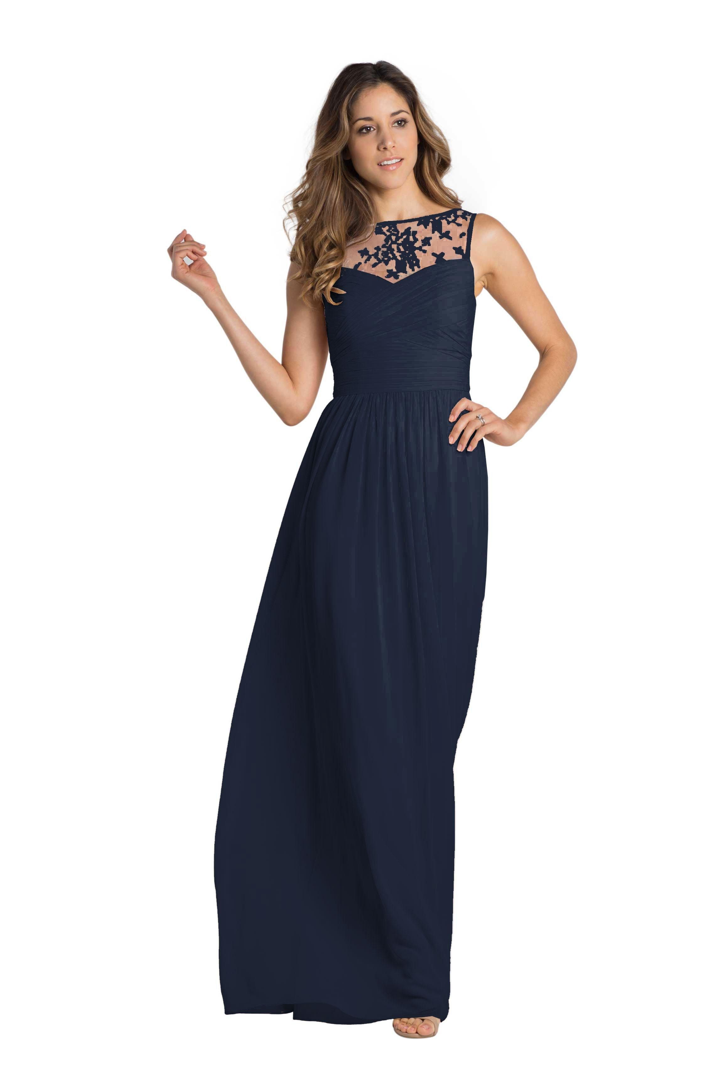 Monique lhuillier riley chiffon bridesmaid dresses and wedding