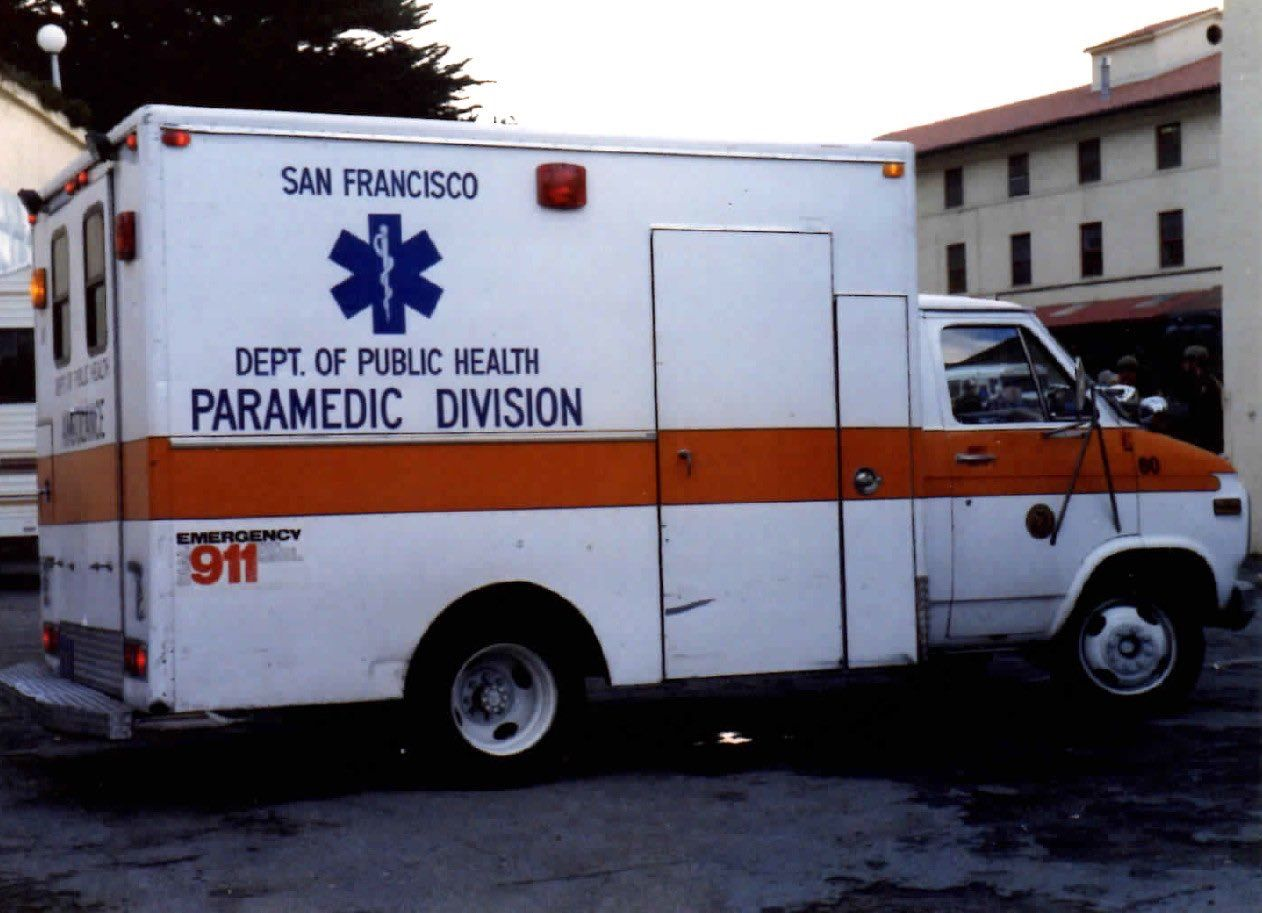 Vintage San Francisco Department Of Public Health Paramedic Division Ems Unit Ambulance Paramedic