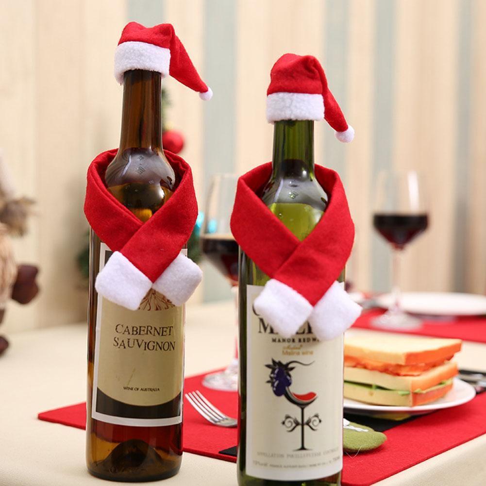 Christmas Wine Bottle Sets Christmas Wine Bottle Covers Christmas Wine Bottles Bottles Decoration