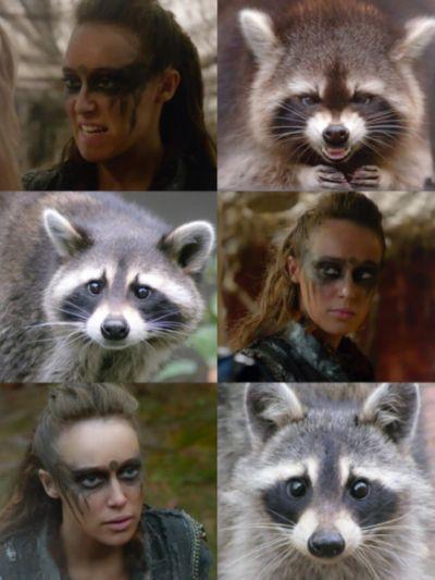 Commander 'Raccoon eyes' Lexa