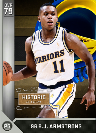 Bj Armstrong Basketball Trading Card When He Played For The Golden