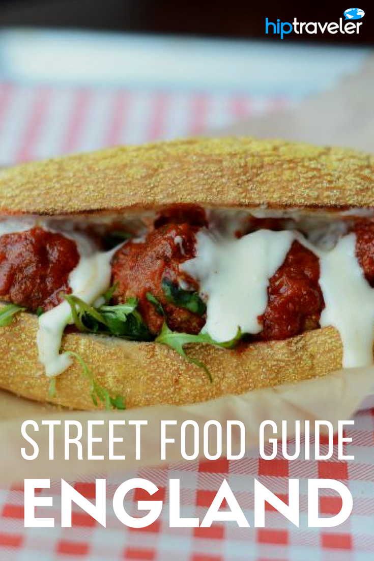 A comprehensive guide to the best street food in England. What to eat and where to find it + best a list of the best annual food festivals in England. Best of food travel in Europe. | Blog by HipTraveler: Bookable Travel Stories
