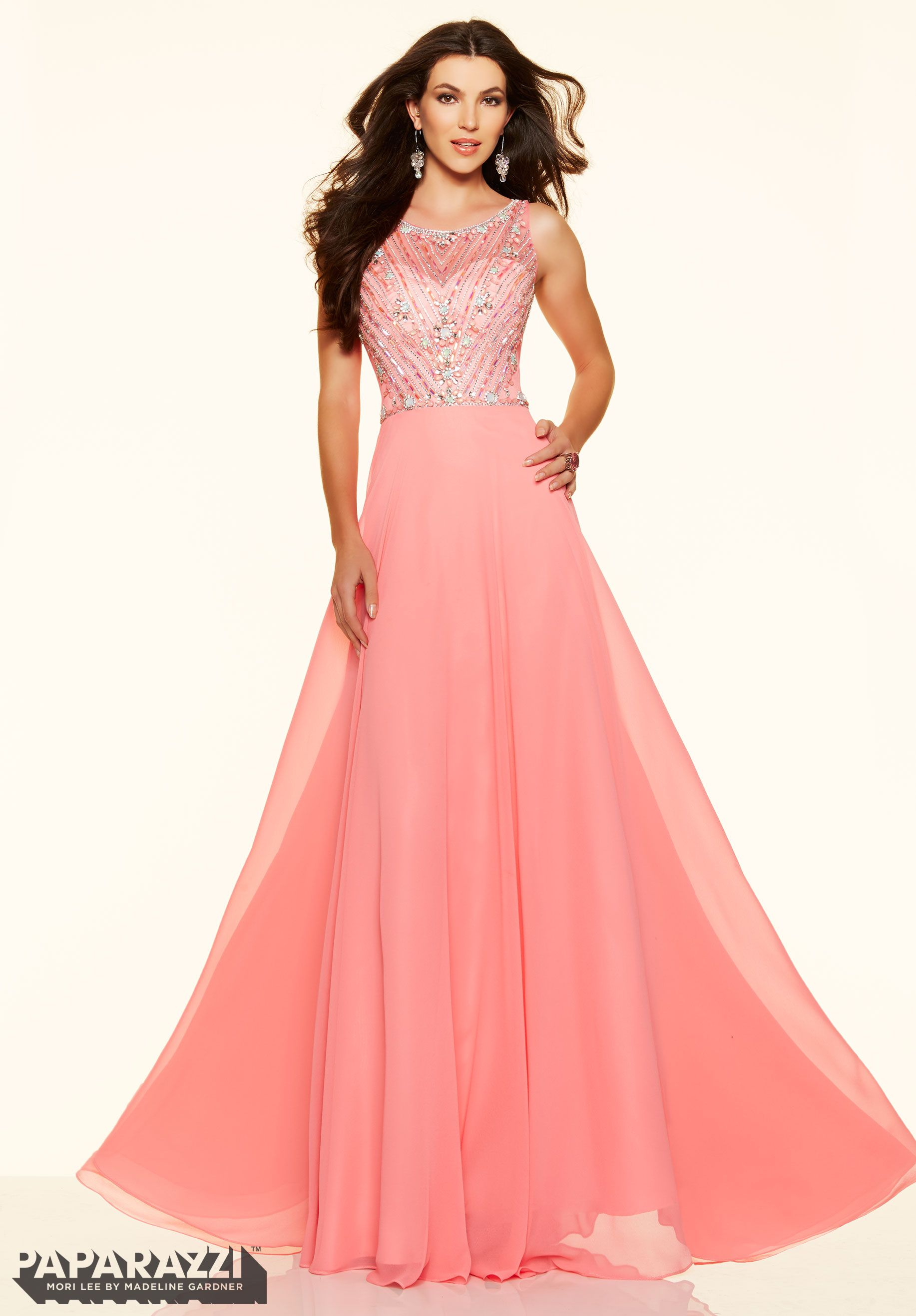 Vestido Prom YLZNA BEADED CHIFFON Zipper Back Closure. Colors ...