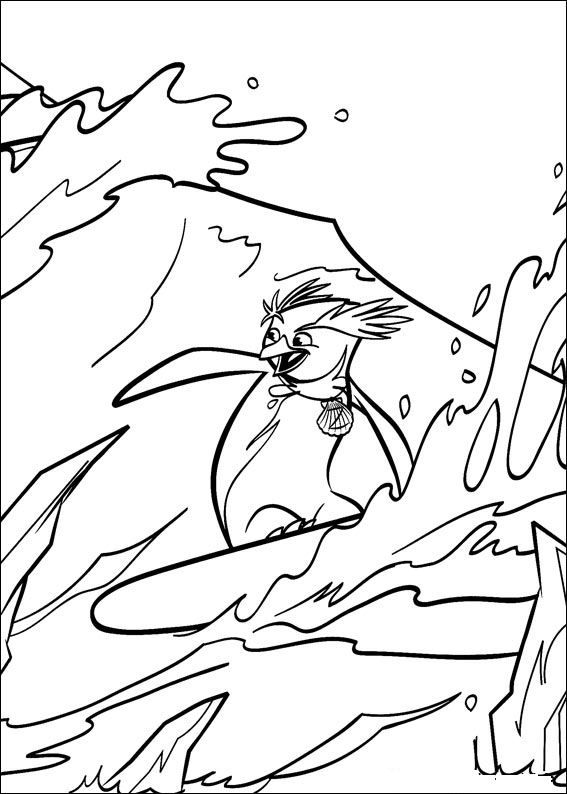 Coloring Page Surfs Up Surfs Up With Images Cool Coloring