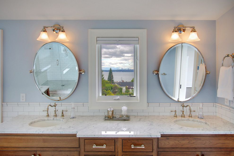 Pivot Mirror Bathroom Farmhouse With Antique Feel Light