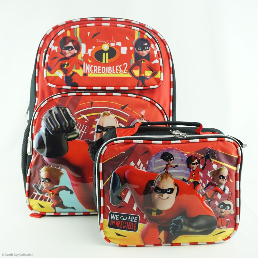 The Incredibles Family Backpack Bundle with Lunch Bag School Bookbag for  Kids  Disney  TheIncredibles  TheIncredibles2  WeAreIncredible b5159e93ffeec