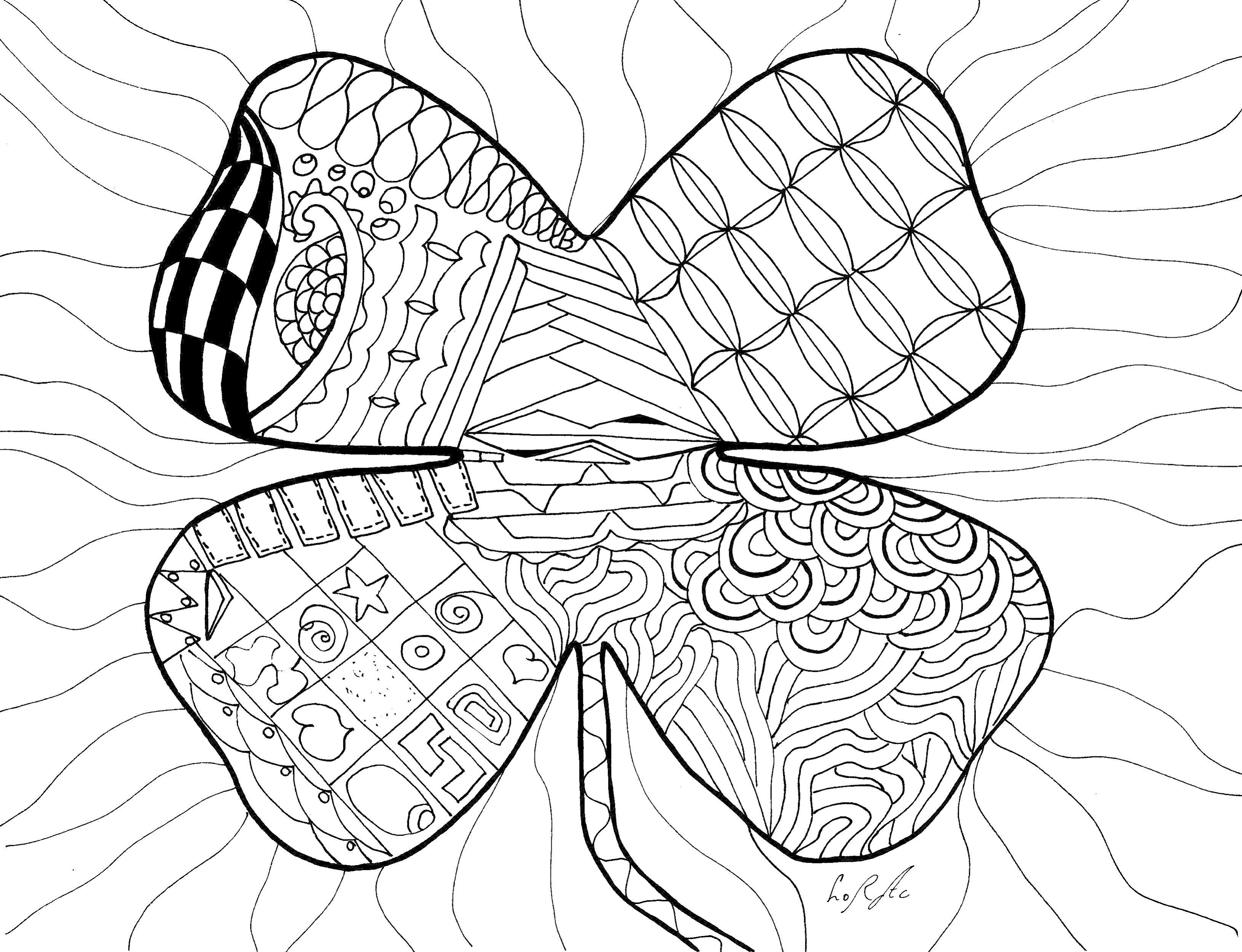 4 leaf clover | Clover leaf, Color, Clover
