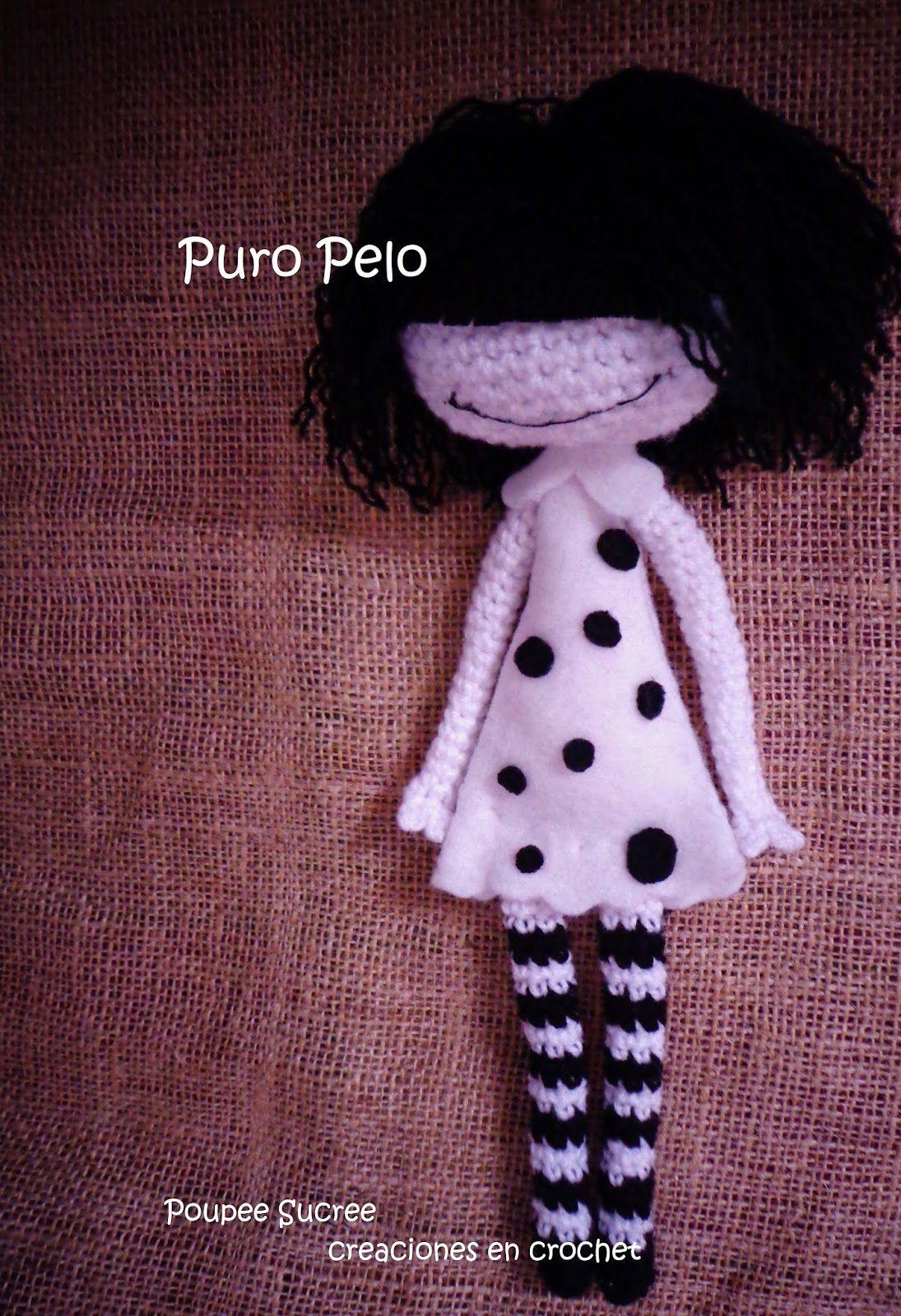 POUPEE SUCREE Creaciones en Crochet: personaje de puro pelo en ...