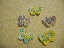 Crocheted Butterflies with pearl beads boby
