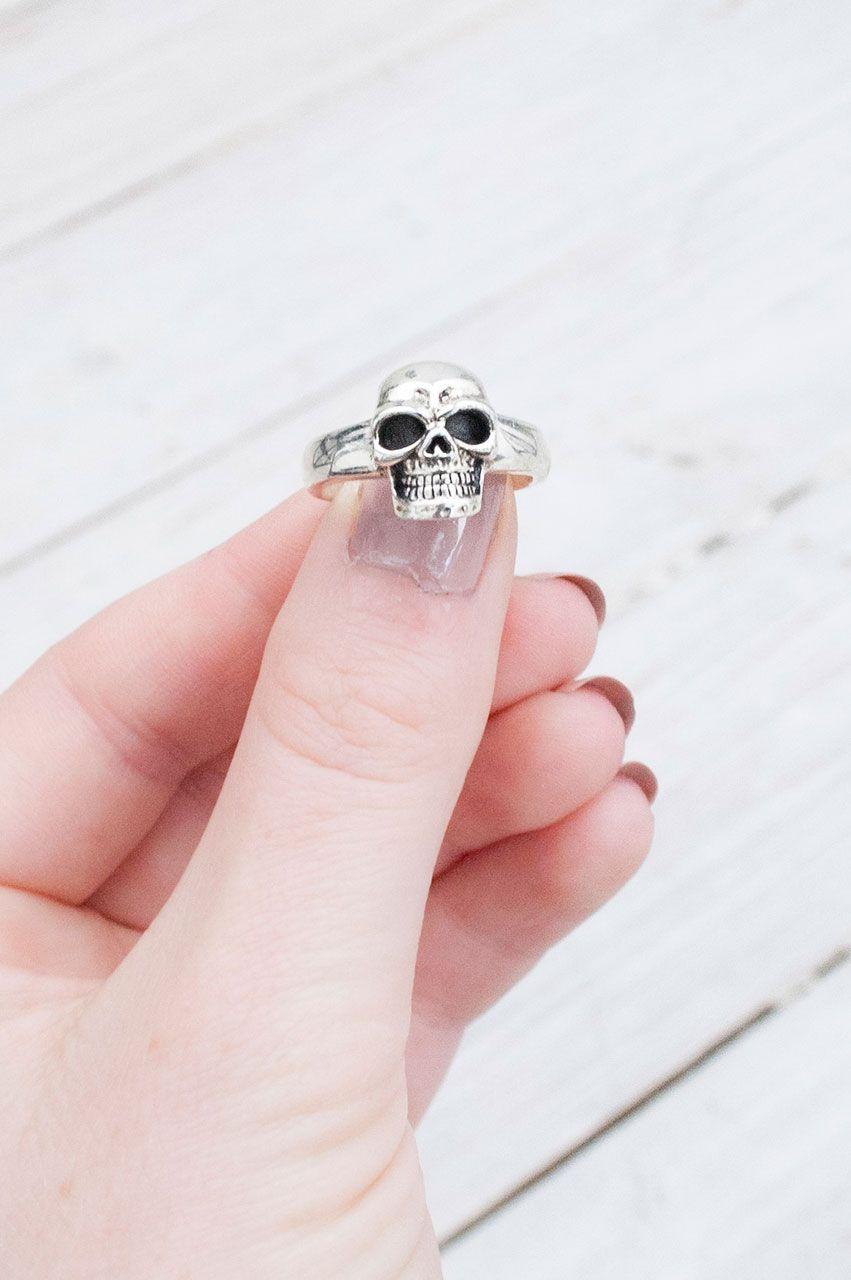 Sterling Silver Skull Ring | Little Lies | Skull Engagement Rings ...