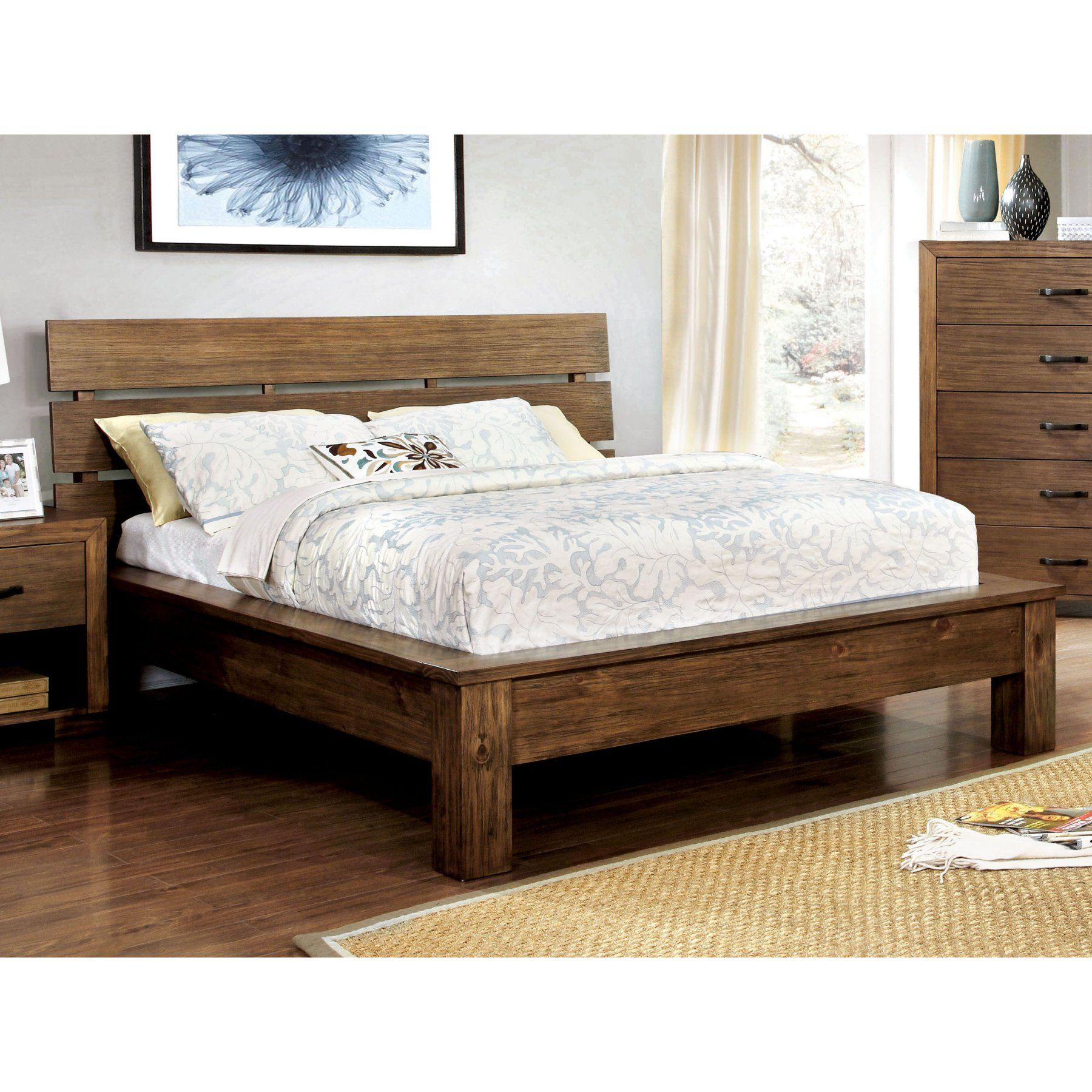 Furniture Of America Cervantes Plank Bed Size Queen Bed