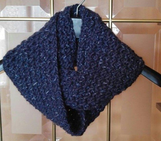 Aprende a tejer a crochet una bufanda infinita en punto reversible ...