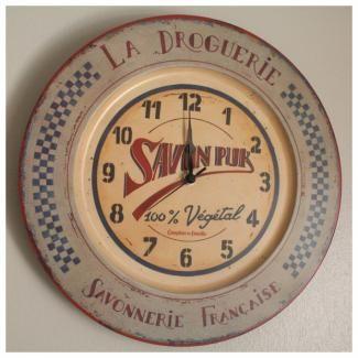 Horloge De Cuisine Retro Chic Comptoir De Famille Horloge Vintage Horloge Cuisine Horloge