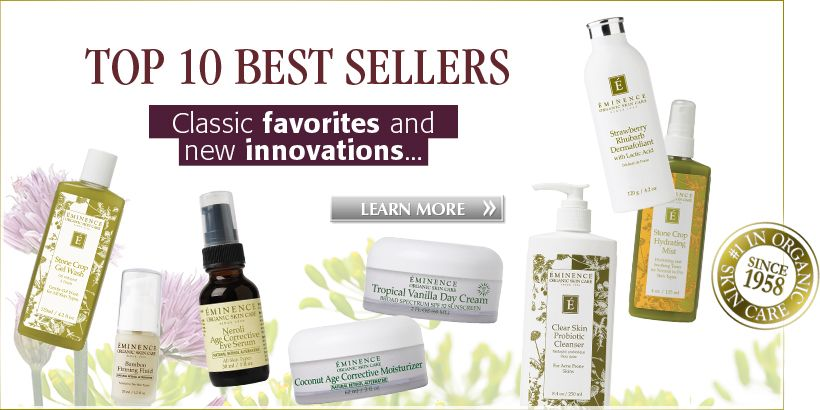 Eminence Top 10 Best Sellers Eminence Organic Skin Care Organic Skin Care Organic Skin Care Lines
