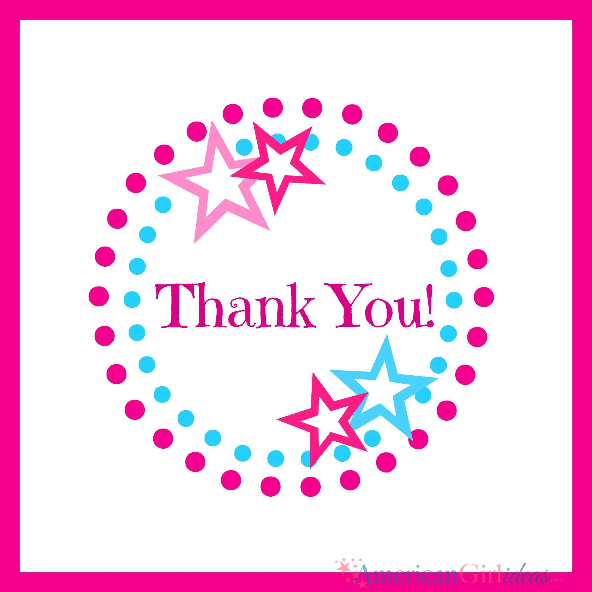 American Girl Thank You Cards   American Girl in 2018   Pinterest ...