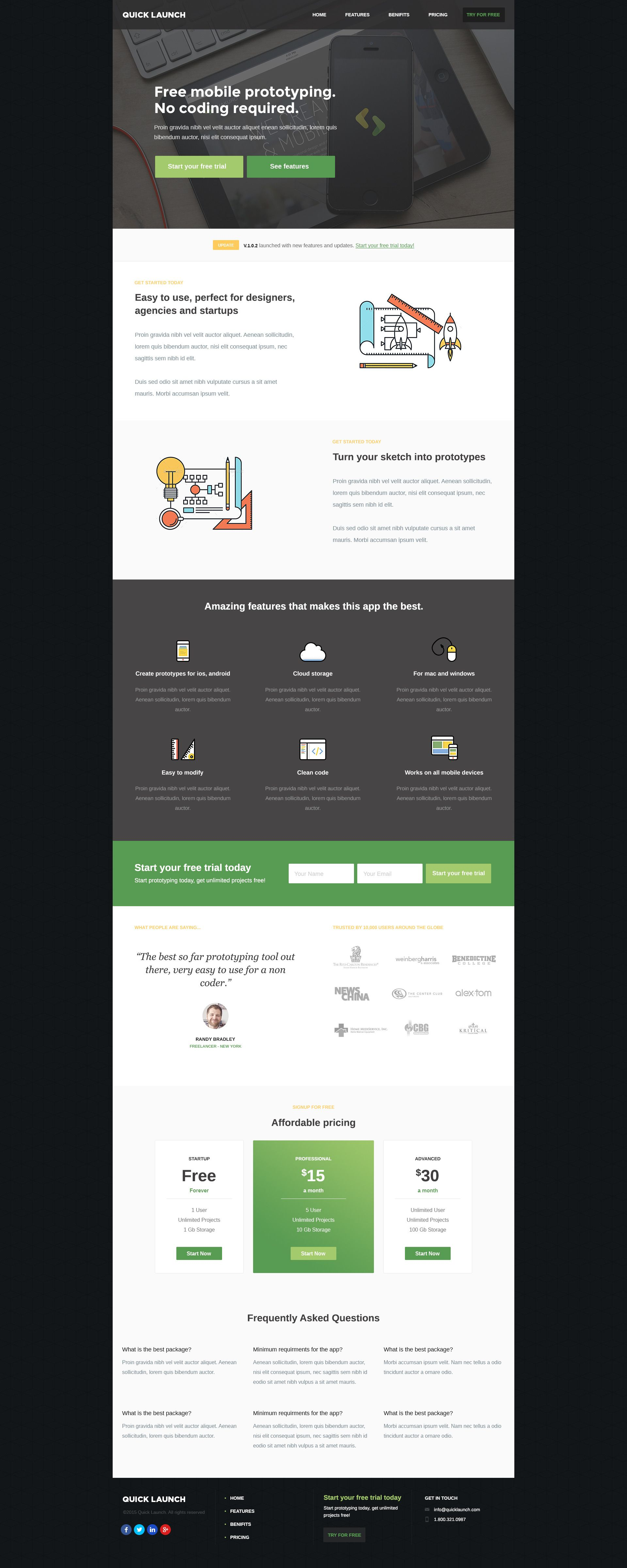 QuickApp Unbounce Landing page is best suitable for