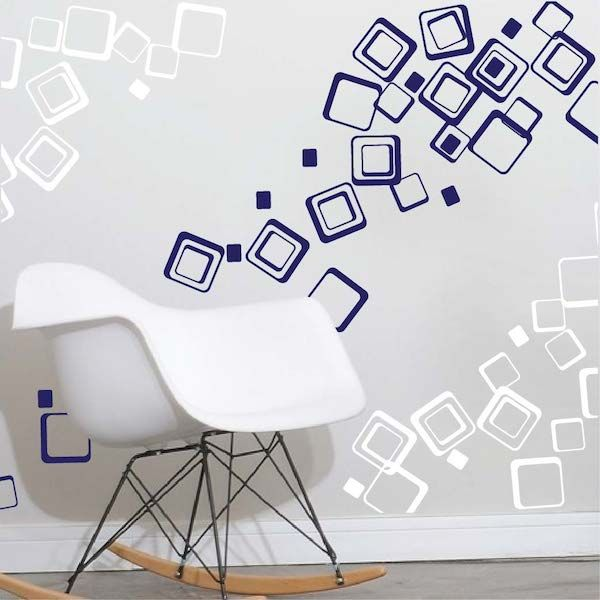 90 multi sized squares wall decals from trendy wall designs